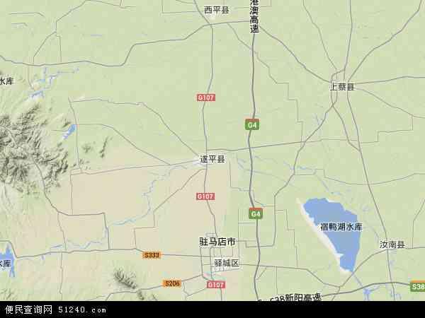 中国河南省驻马店市遂平县查岈山风景区地图(卫星地图)