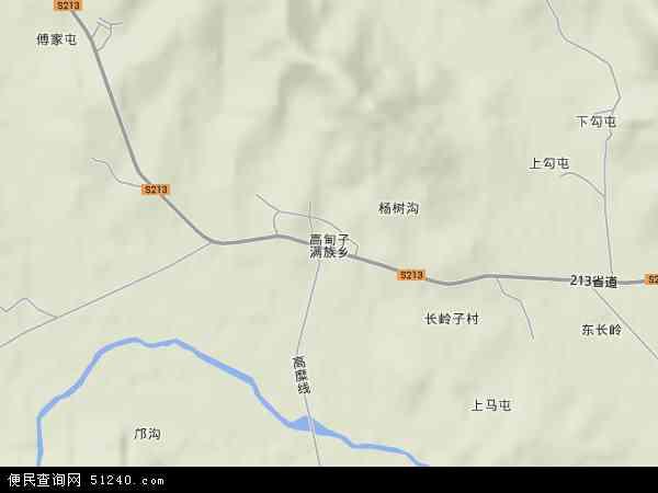 中国辽宁省葫芦岛市绥中县高甸子满族乡地图(卫星地图)