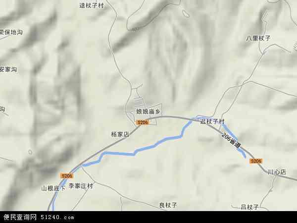 中国辽宁省葫芦岛市建昌县娘娘庙乡地图(卫星地图)
