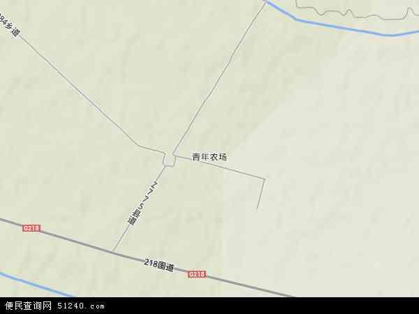 中国新疆维吾尔自治区伊犁哈萨克自治州伊宁县青年农场地图(卫星地图)