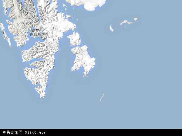 斯瓦尔巴特群岛地图