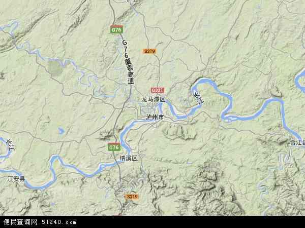 中国四川省泸州市江阳区高新技术开发区地图(卫星地图)