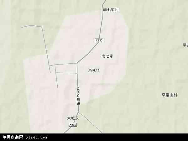 中国内蒙古自治区赤峰市喀喇沁旗乃林果树农场地图(卫星地图)