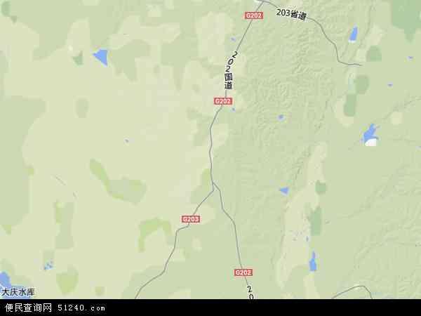 中国黑龙江省绥化市明水县国营第三良种地图