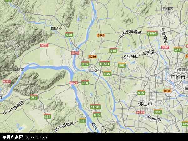 省三水劳教所地图 - 省三水劳教所卫星地图