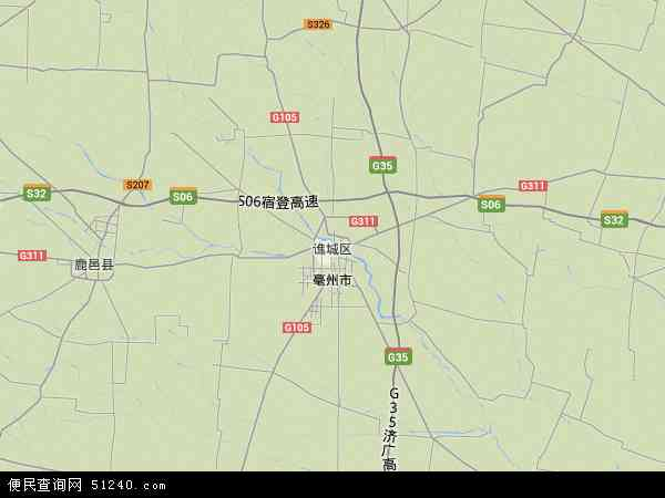 中国安徽省亳州市谯城区安徽亳州工业园区地图(卫星地图)