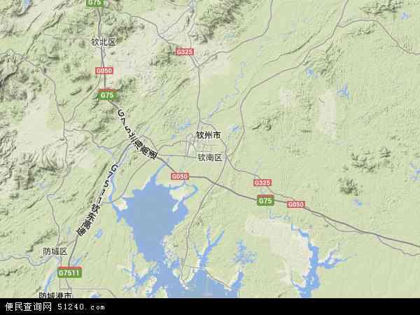 中国广西壮族自治区钦州市钦南区丽光华侨农场地图(卫星地图)
