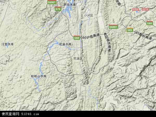中国贵州省贵阳市花溪区明珠社区服务中心地图(卫星地图)图片