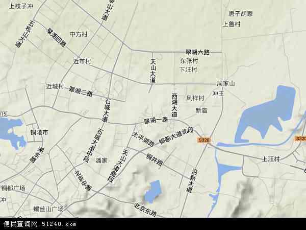2015铜陵市经济开发区地图高清版