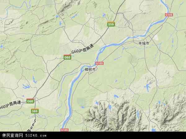 中国江西省宜春市樟树市省双金园艺场地图(卫星地图)