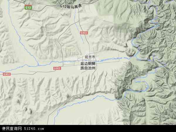 延边朝鲜族自治州地图