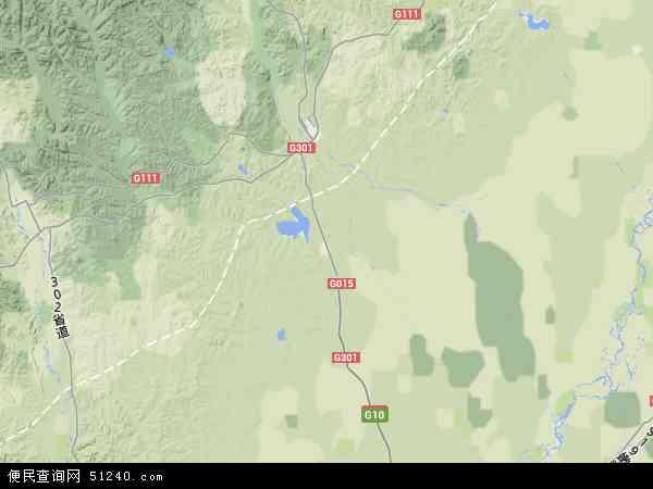 中国黑龙江省齐齐哈尔市甘南县北京市双河农场地图