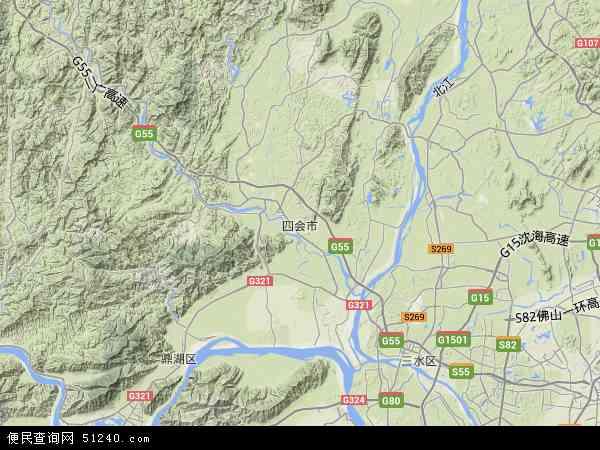 中国广东省肇庆市四会市广东省济广监狱地图