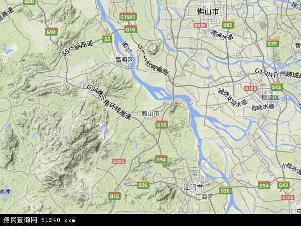 中国广东省江门市鹤山市广东省江门监狱地图