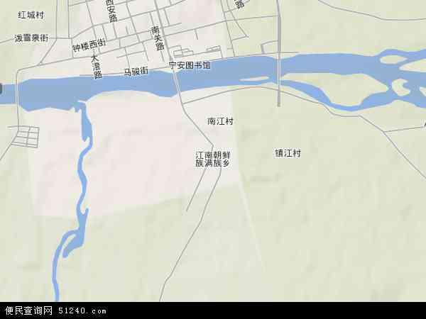 省牡丹江市宁安市江南朝鲜族满族乡地图(卫星地图)