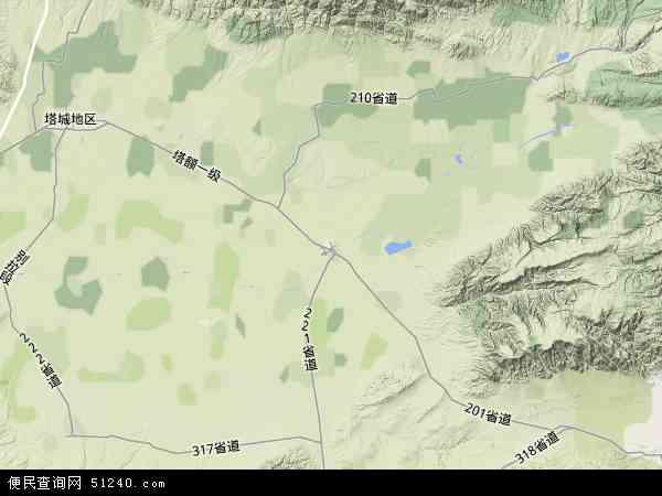 区塔城地区额敏县兵团农九师一六八团地图(卫星地图)