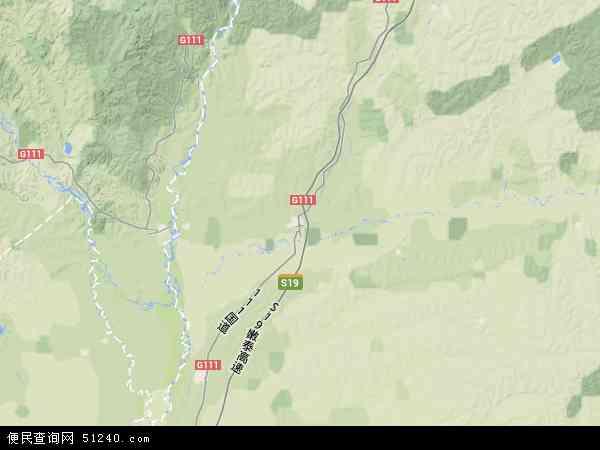 黑龙江省老莱监狱地形地图