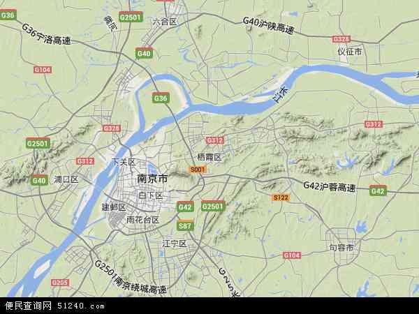 中国江苏省南京市栖霞区南京迈皋桥创业园地图