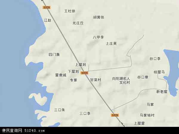 中国湖北省咸宁市咸安区向阳湖奶牛良种场地图(卫星地图)