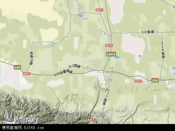 塔城地区乌苏市吉尔格勒特郭愣蒙古民族乡地图