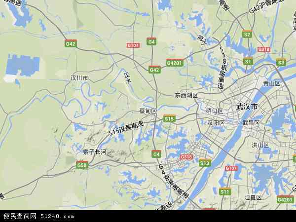 蔡甸经济开发区凤凰山事处地图