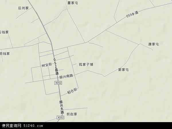 中国吉林省四平市梨树县孤家子镇(四平辽河农垦管理区)地图(卫星地图)