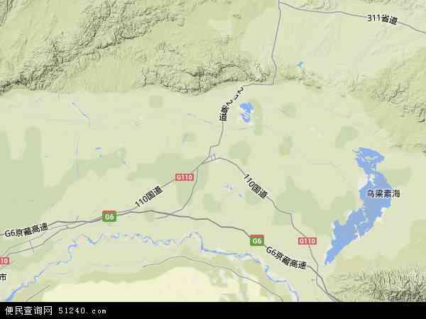 内蒙古卫星地图高清版_内蒙古高清卫星地图