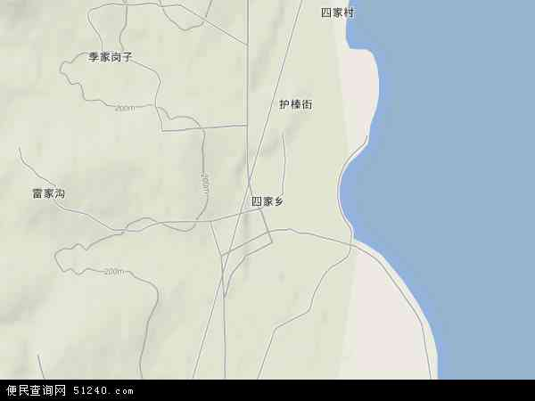 中国吉林省长春市二道区四家乡(长春莲花山生态旅游度假区省级)地图