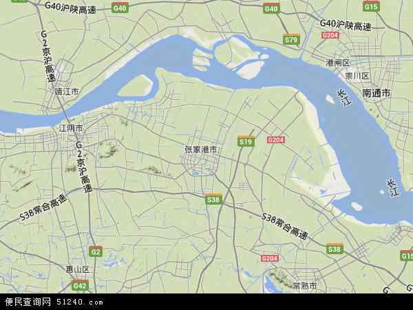 张家港市市稻麦良种场地图