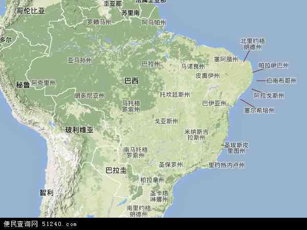巴西高清卫星航拍地图