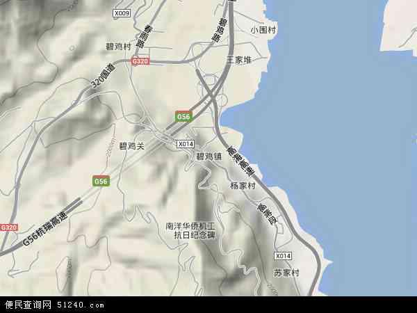 中国云南省昆明市西山区碧鸡地图(卫星地图)