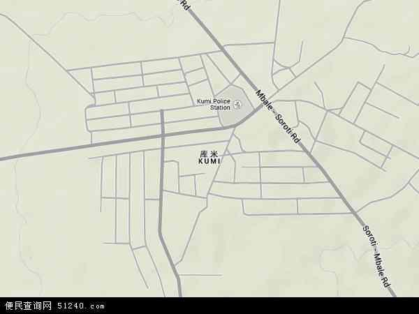 乌干达库米地图(卫星地图)