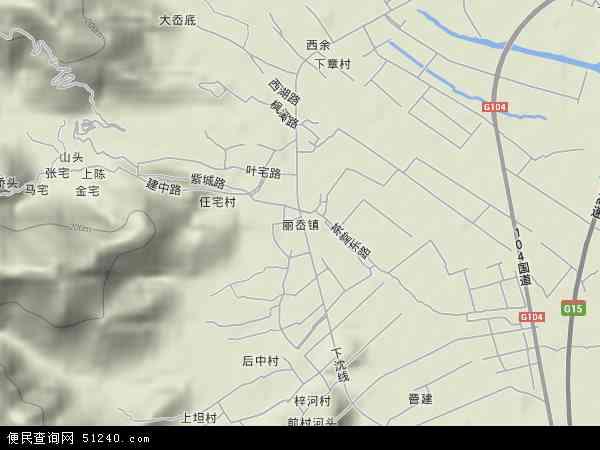 中国浙江省温州市瓯海区丽岙地图(卫星地图)