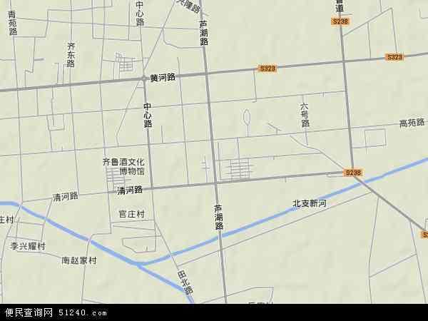 中国山东省淄博市高青县芦湖地图(卫星地图)