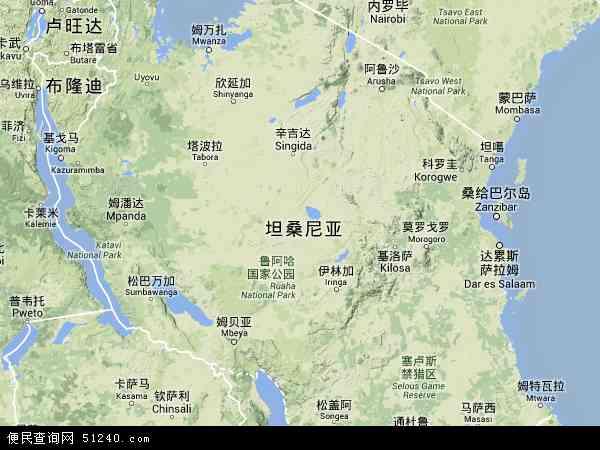 坦桑尼亚马腊地图(卫星地图)