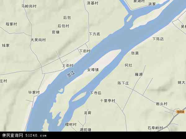 中国浙江省金华市兰溪市女埠地图(卫星地图)