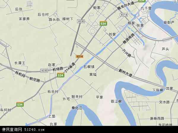 中国浙江省宁波市鄞州区石碶 地图 (卫星 地图 )
