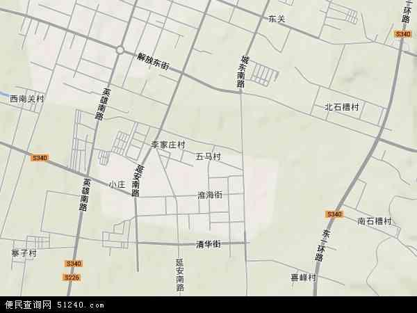 中国山西省长治市城区五马地图(卫星地图)