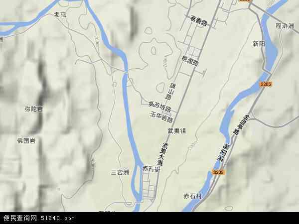 中国福建省南平市武夷山市武夷地图(卫星地图)