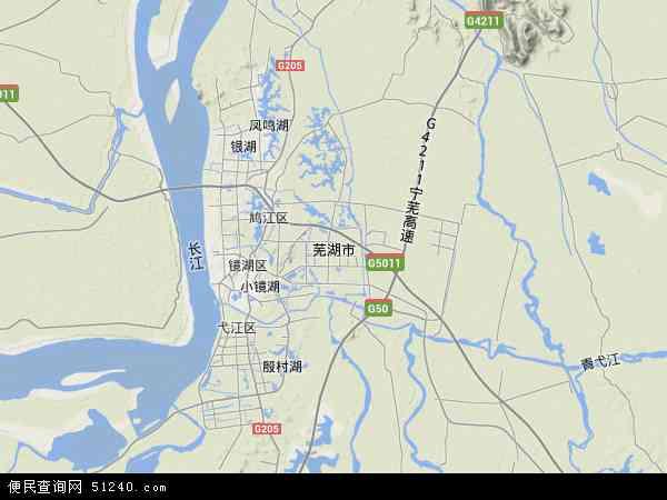 芜湖市地图 - 芜湖市卫星地图图片
