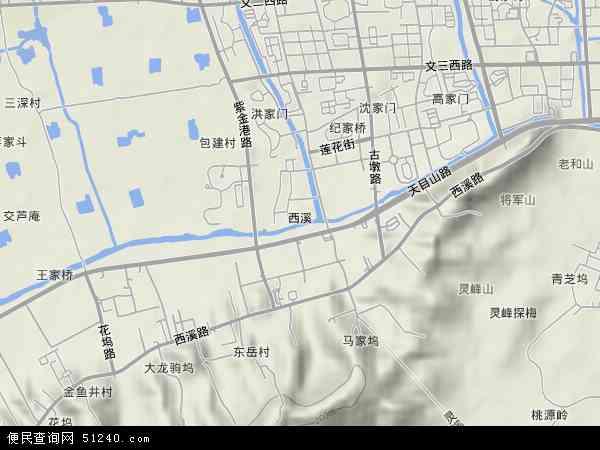 西溪地图 - 西溪卫星地图
