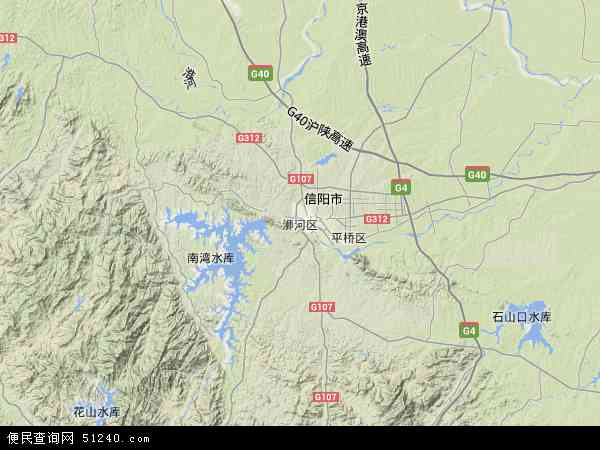 浉河区地图 - 浉河区卫星地图