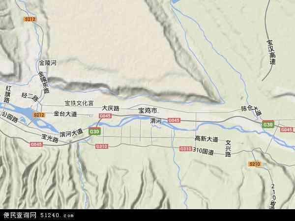 西安交通地图_宝鸡市地图 - 宝鸡市卫星地图 - 宝鸡市高清航拍地图