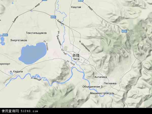 俄罗斯赤塔地图(卫星地图)