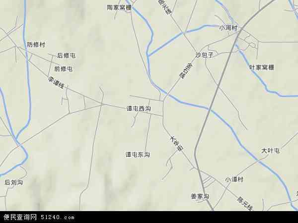 中国辽宁省大连市普兰店市大谭地图(卫星地图)