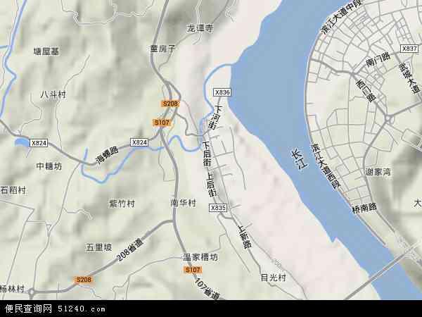 中国重庆市江津区德感地图(卫星地图)
