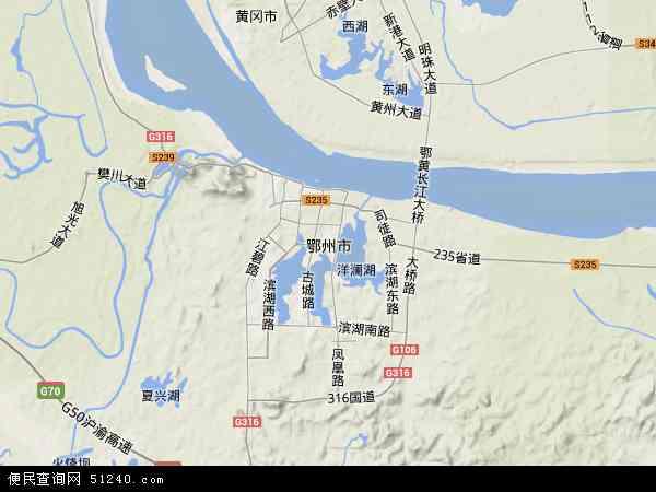 鄂州市地图 - 鄂州市卫星地图