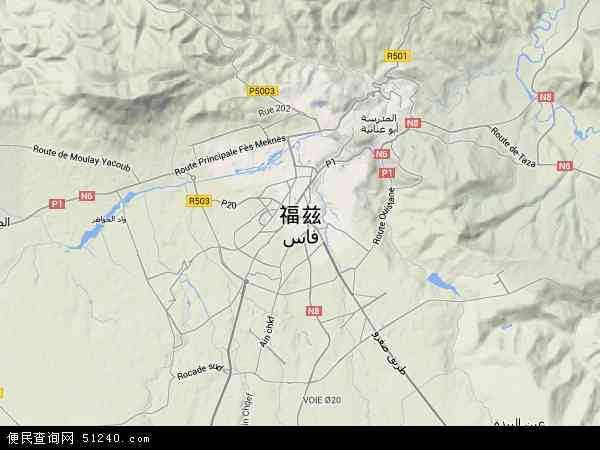 摩洛哥非斯地图(卫星地图)