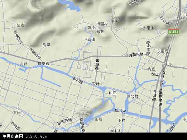 中国浙江省温州市瓯海区郭溪地图(卫星地图)