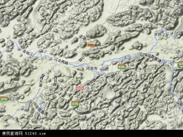 南宁市地图全图_河池市地图 - 河池市卫星地图 - 河池市高清航拍地图